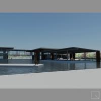 Centro polifunzionale sulla darsena del nuovo porto di Fiumicino (RM)